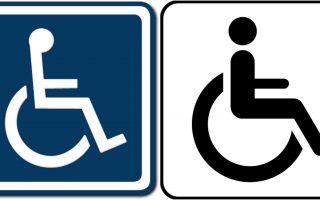 Deficiência motora cadeira de rodas símbolo