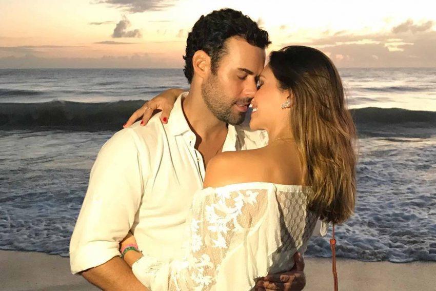 Carol Celico com o namorado Eduardo Scarpa