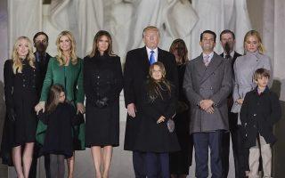 Família Trump primeiro dia tomada de posse