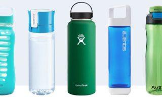 Garrafas de água reutilizáveis ginásio