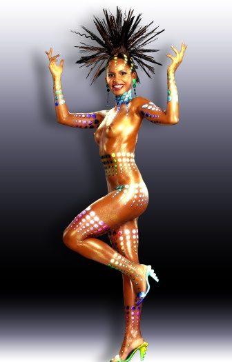 Nudez banida de musa do Carnaval do Rio de Janeiro
