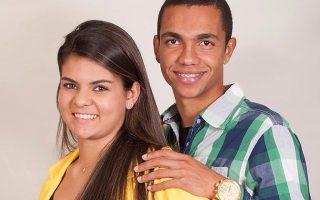 Graziele, viúva grávida, e Tiaguinho, jogador Chapecoense capa