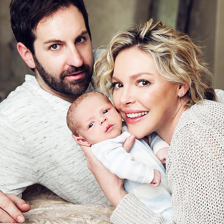 Josh Kelley, Katherine Heigl e o filho biológico Joshua Bishop Kelley Jr