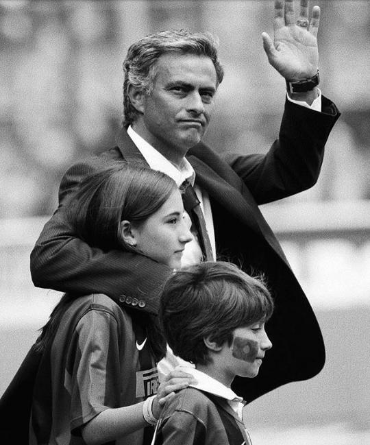 Matilde, José e José Mourinho