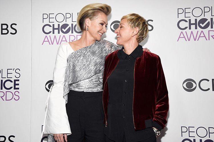 Portia de Rossi e Ellen Degeneres People's Choice Awards