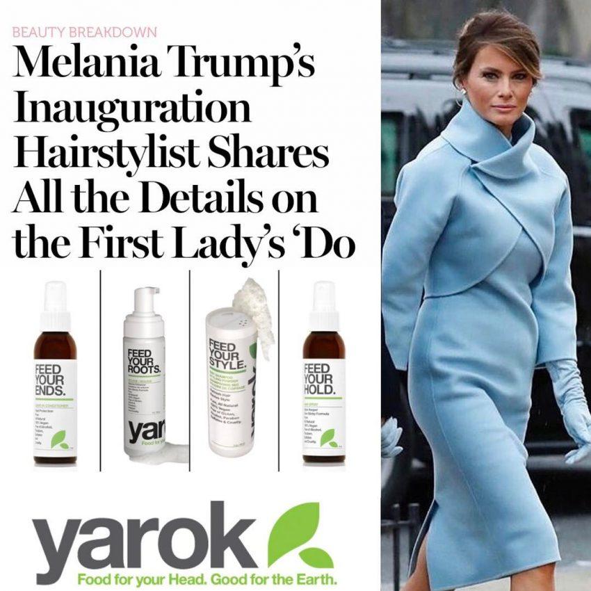 Produtos de cabelo Melania Trump