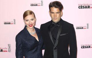 Scarlett Johansson e o marido Romain Dauriac