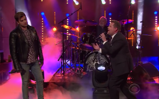 Adam Lambert Queen e James Corden
