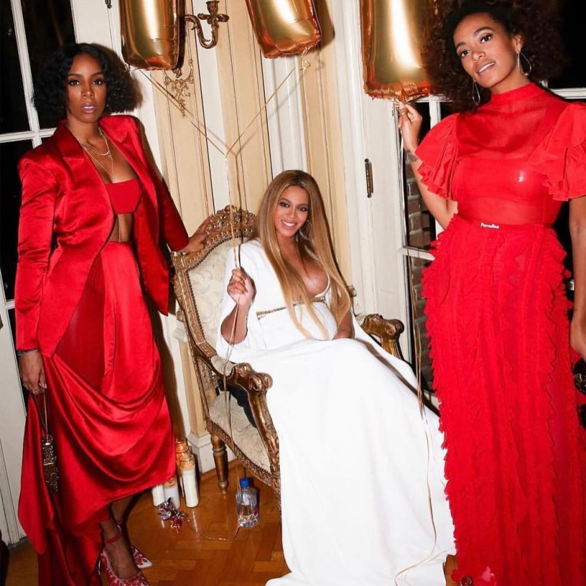 Beyoncé e irmã Solange Knowles festa depois dos Grammys