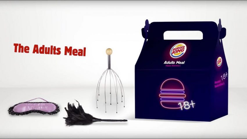brinquedos para adulto Adults Meal Burger King Dia dos Namorados capa