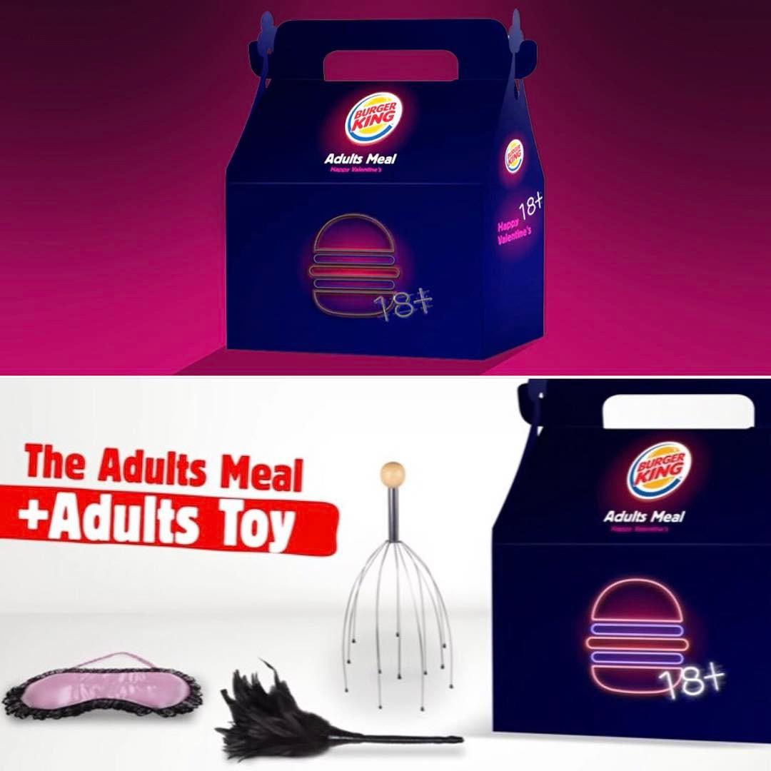 brinquedos para adulto Adults Meal Burger King Dia dos Namorados