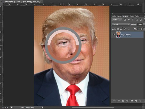 bronzeado falso donald trump