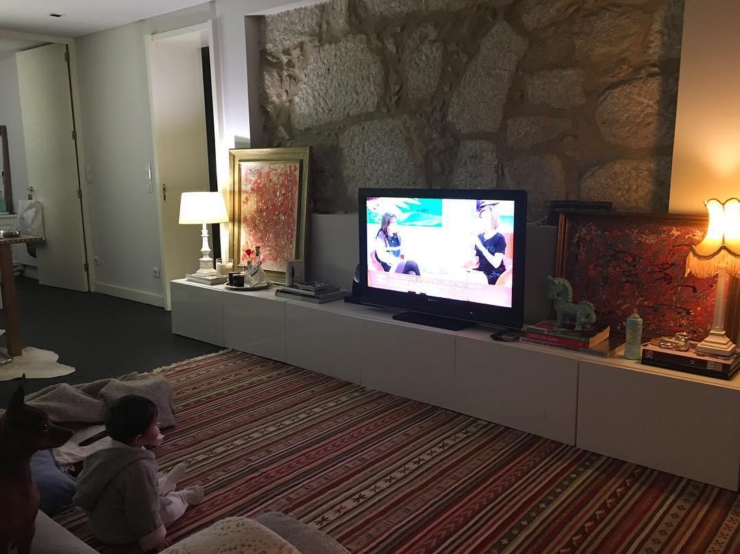 Casa nova de Joana Freitas e do filho Francisco