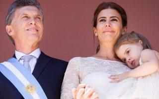 Casal presidencial Argentina com filha Antonia 2