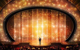 Cenário palco Óscares 2016