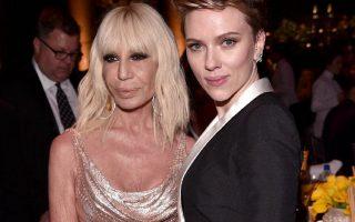 Donatella Versace e Scarlett Johansson gala amfAR