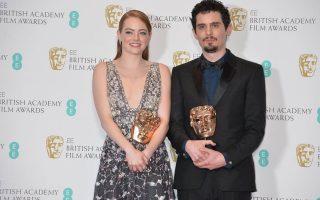 Emma Stone e Damien Chazelle BAFTA