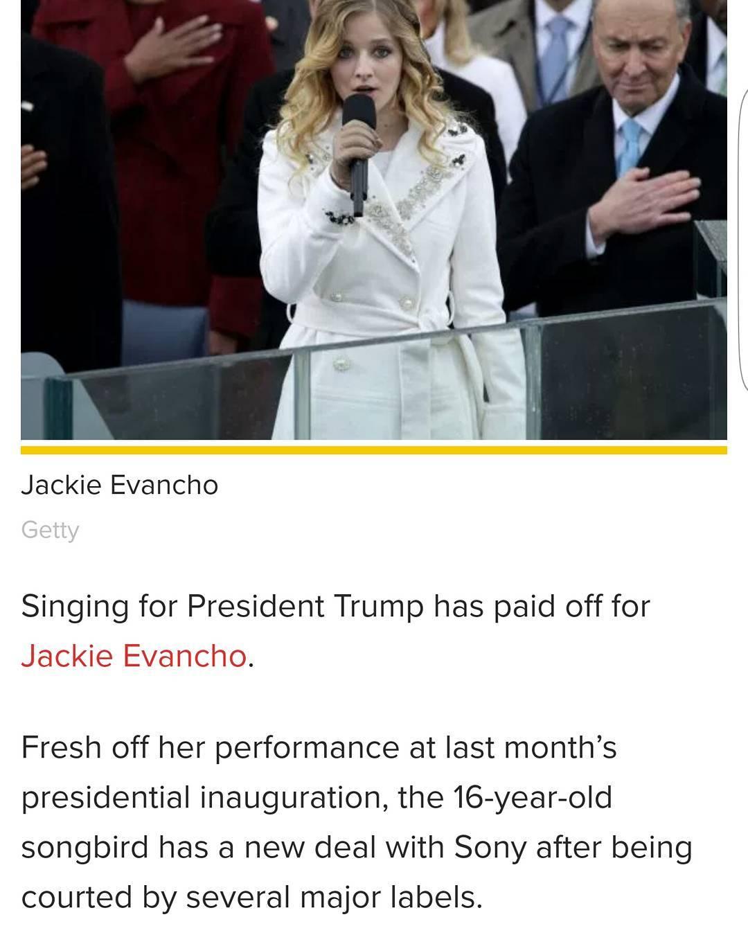 Jackie Evancho hino Trump assina contrato com Sony