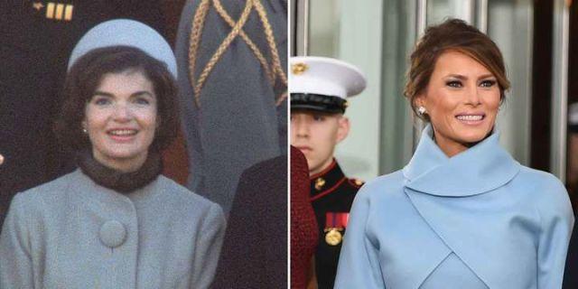 Jackie Kennedy e Melania Trump azul