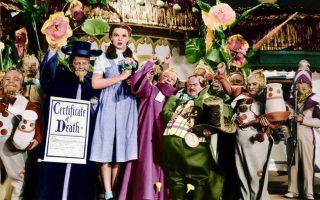 Judy Garland e anões Feiticeiro de Oz
