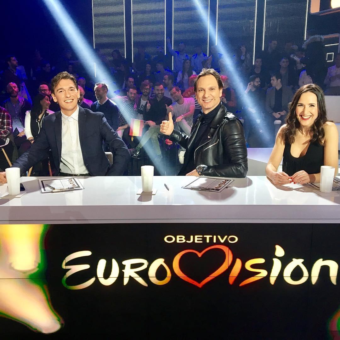Os jurados (da esq. para a dir,): Xavi Martínez, Javier Cárdenas e Virginia Díaz