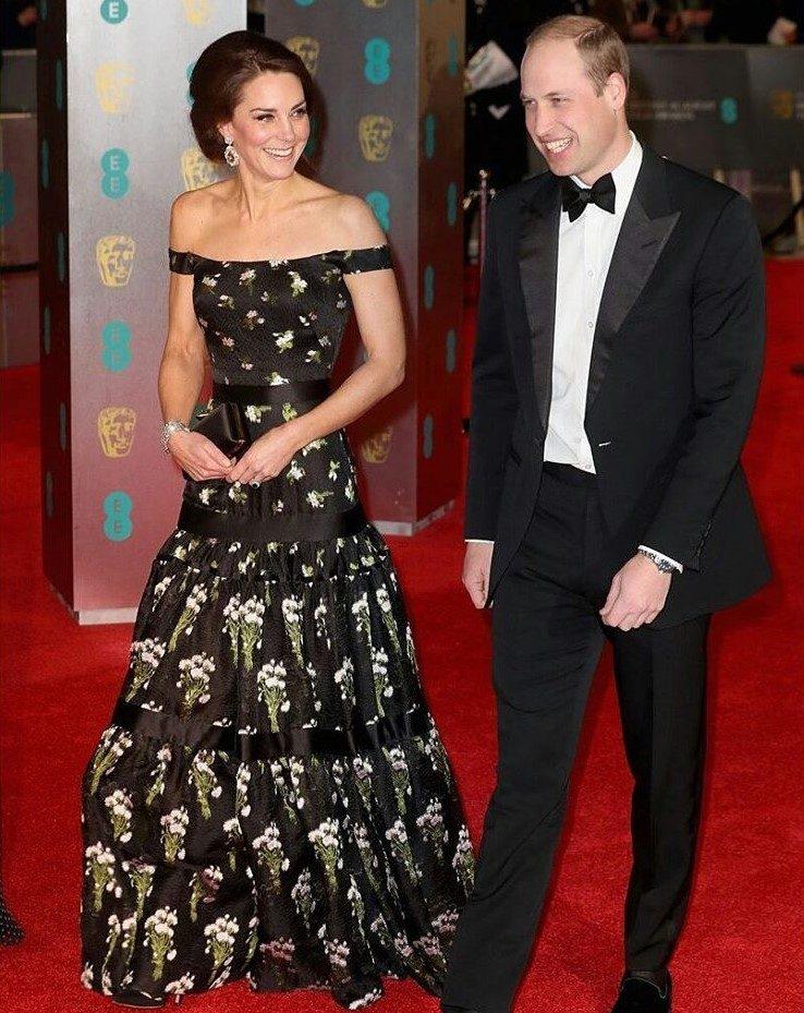 Kate Middleton e Príncipe William BAFTA