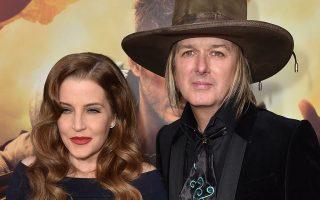 Lisa Marie Presley e o marido Michael Lockwood