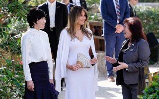 Melania Trump e mulher do Primeiro-Ministro do Japão 2