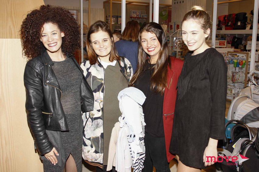 Carolina Deslandes com as atrizes Irma Ribeiro, Catarina Siqueira e Ana Marta Ferreira