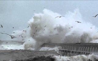 ondas agitação marítima Foz do Douro mau tempo mar