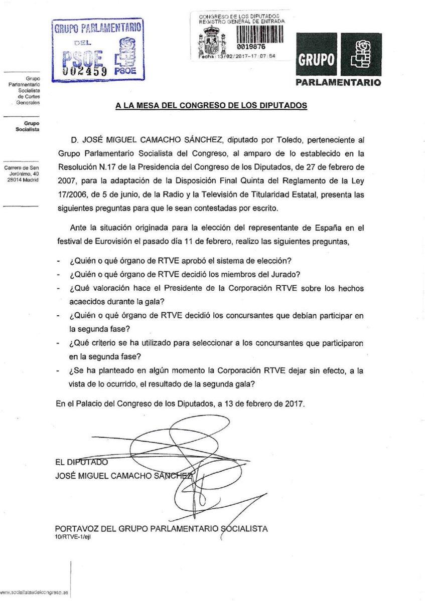 Pedido de explicações deputados à TVE pela Eurovisão