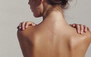 Pele costas mulher