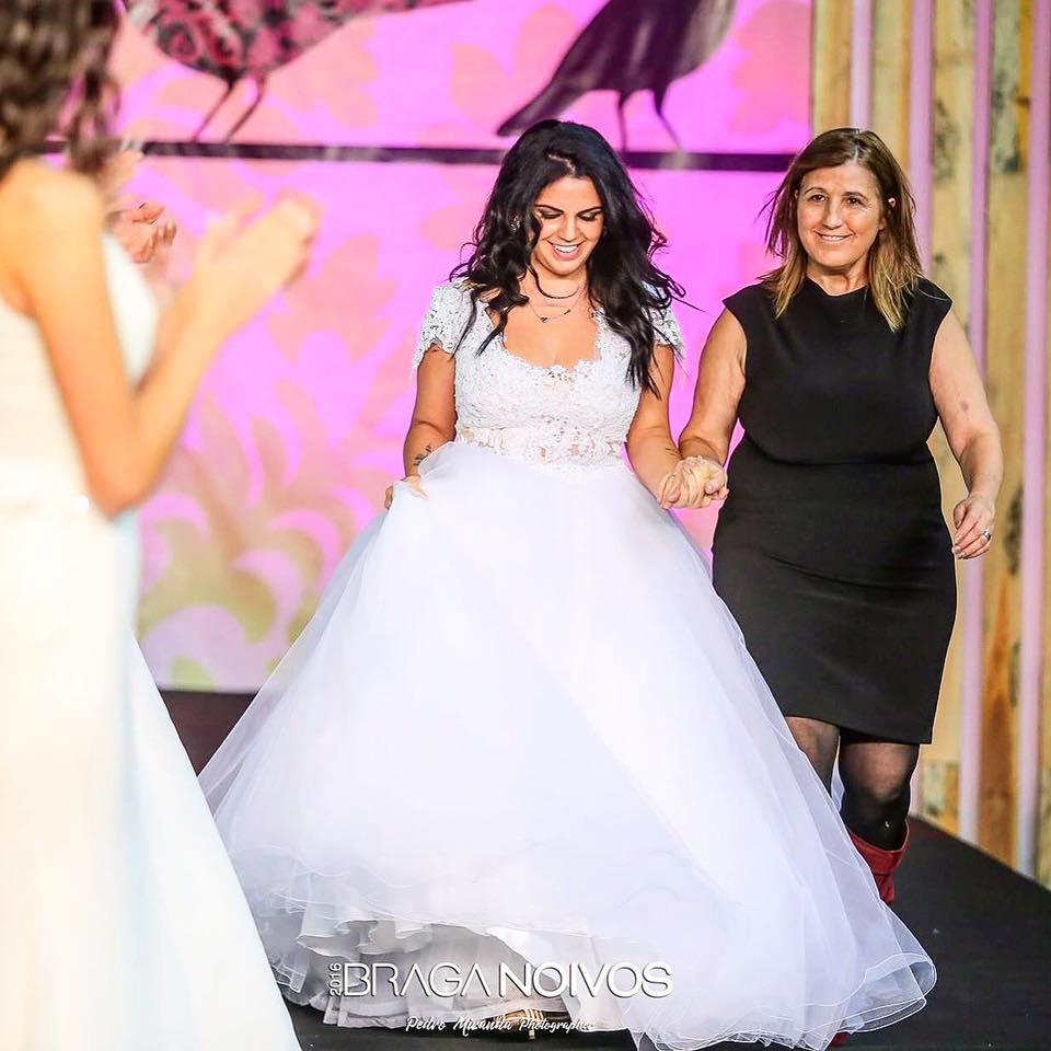 Tatiana Magalhães vestido de noiva