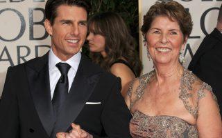 Tom Cruise e a mãe Mary Lee Pfeiffer