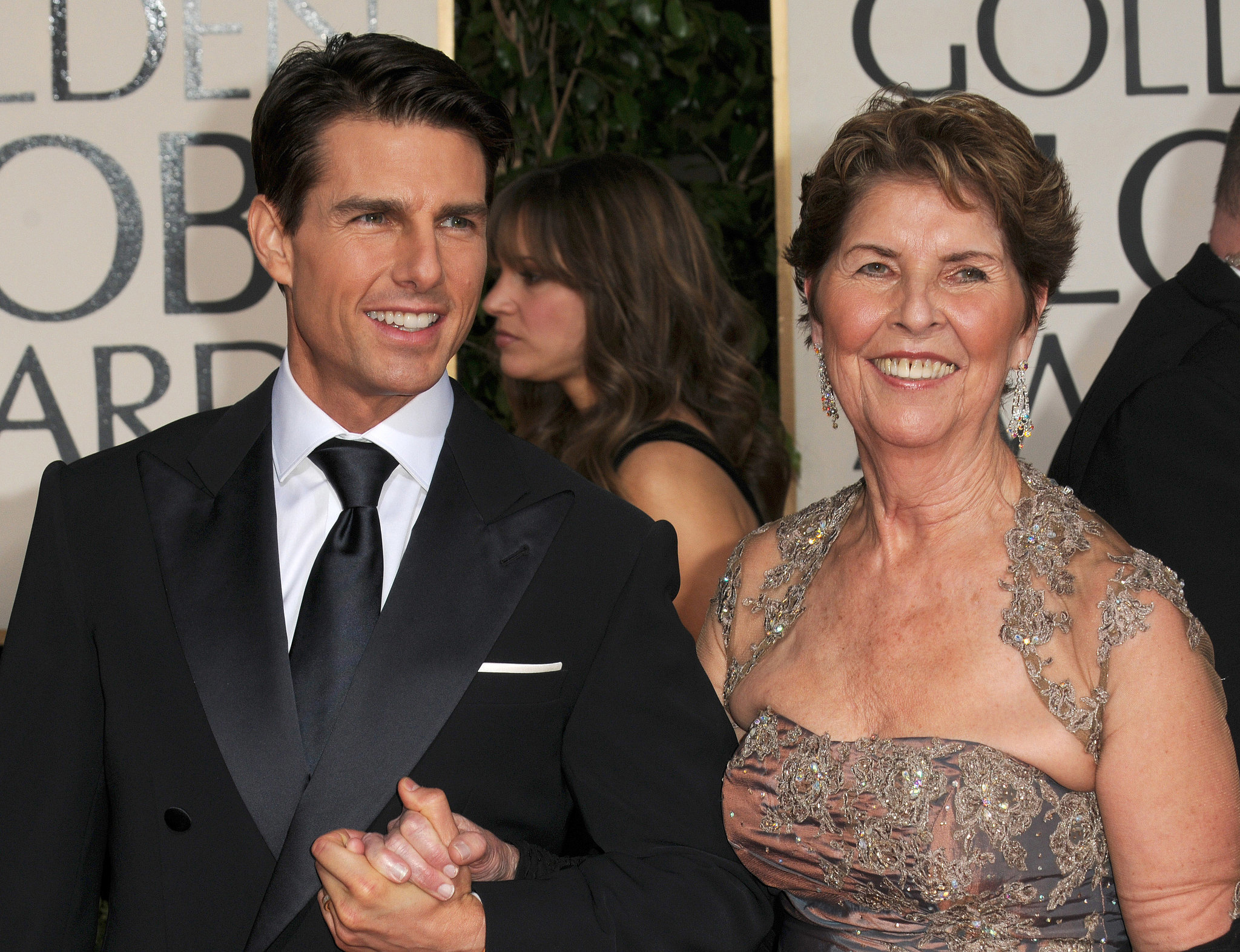 Tom Cruise e a mãe Mary Lee Pfeiffer