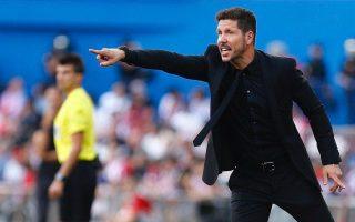 Treinador do Atlético de Madrid Diego Pablo Simeone