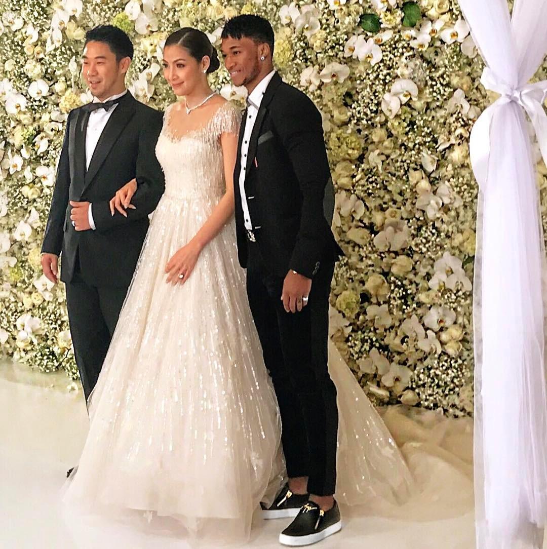 Yannick Djaló no casamento do amigo jogador de futebol Tailândia
