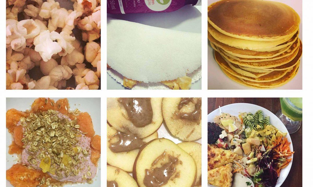 Alimentos partilhados por Francisca Pereira nas redes sociais