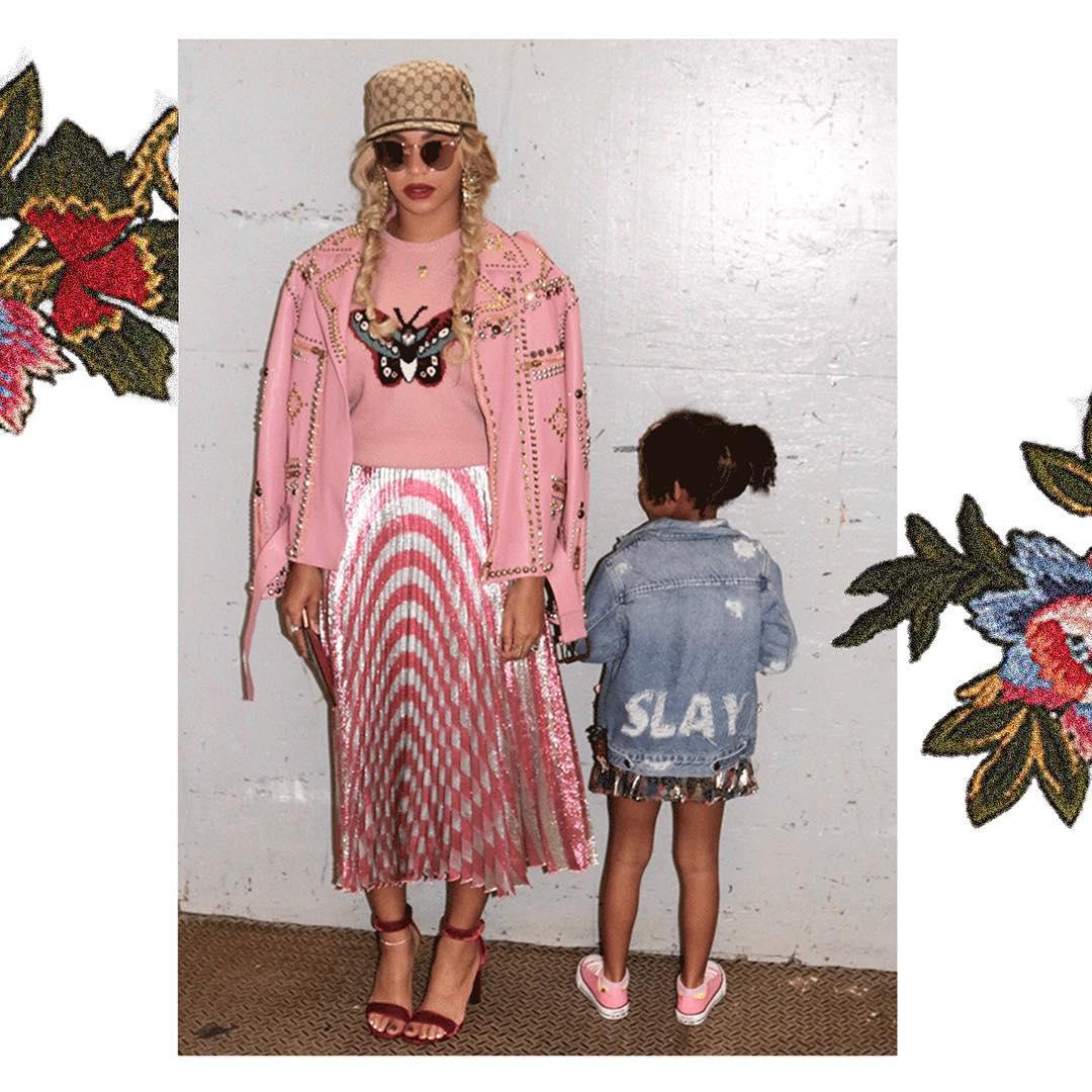 Espreite o armário milionário da filha de Beyoncé ...