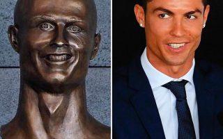 Busto de Cristiano Ronaldo aeroporto Madeira