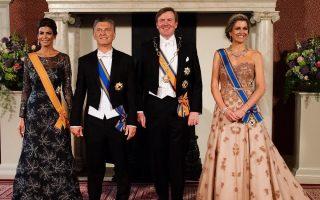 Casal presidencial argentino com reis da Holanda jantar capa