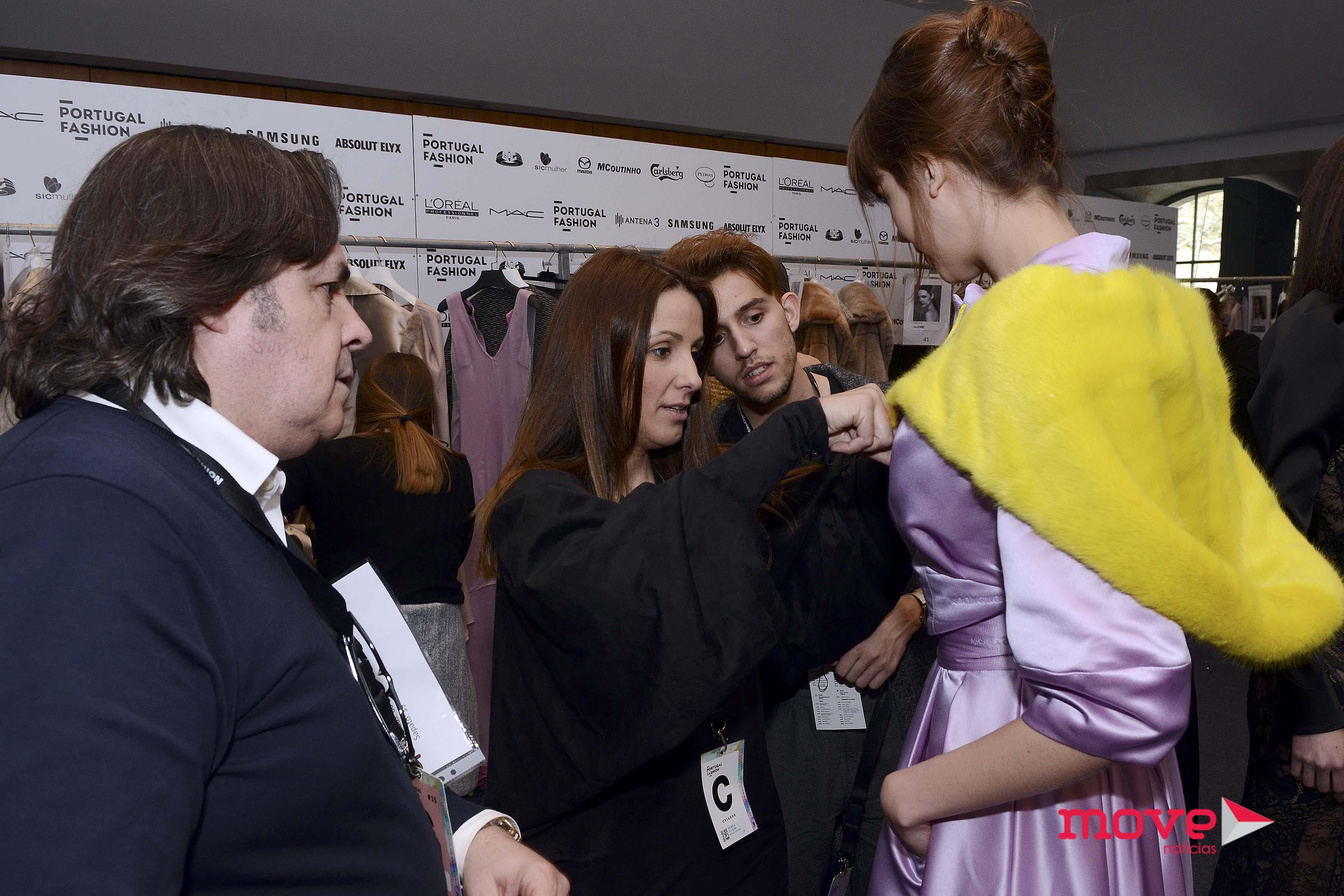 Micaela Oliveira e marido Portugal Fashion