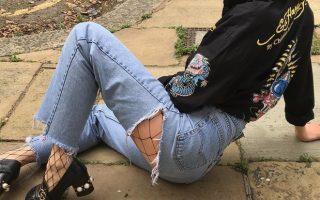 Erika Bowes meias de rede