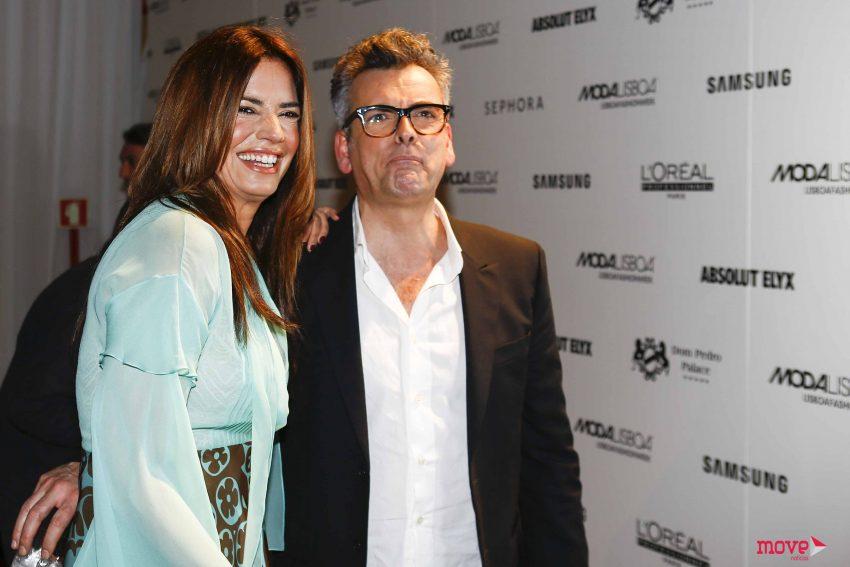 Bárbara Guimarães com o estilista Filipe Faísca