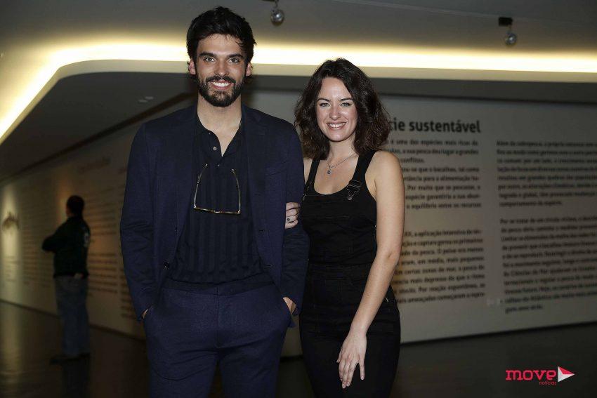 Mariana Pacheco com o ator Vítor Silva Costa com quem vai viver uma história de amor na ficção