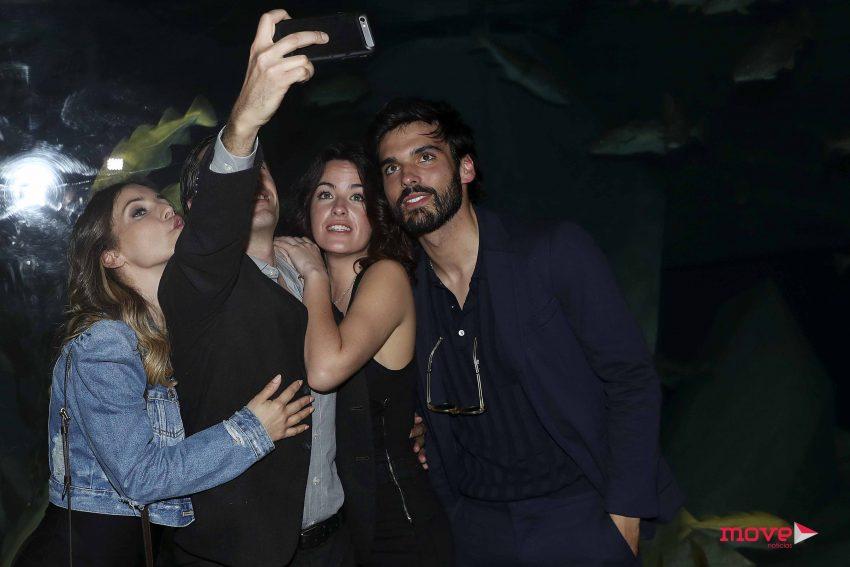 Mariana Pacheco com os colegas de elenco, Luciana Abreu, Filipe Vargas e Vítor Sílva Costa