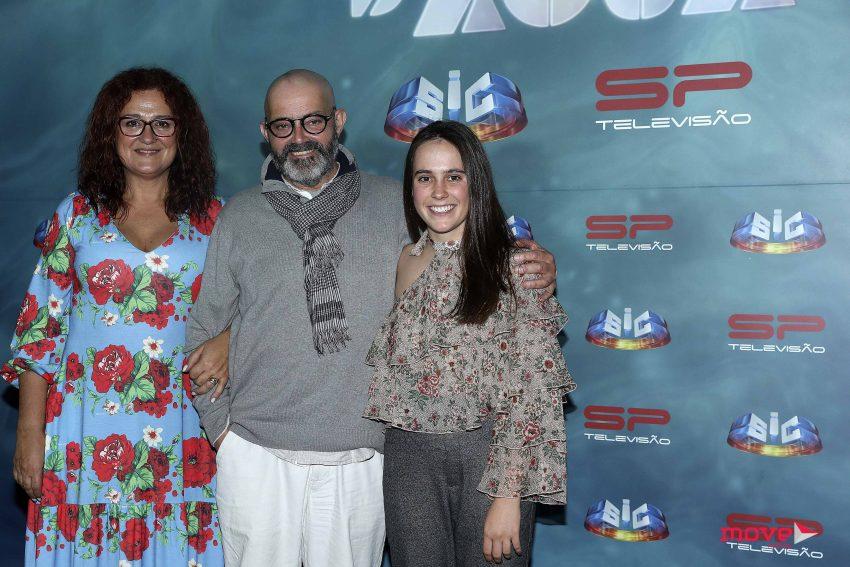 João Ricardo com Susana Cacela e Diana Lara, sua mulher e filha, respetivamente, na ficção