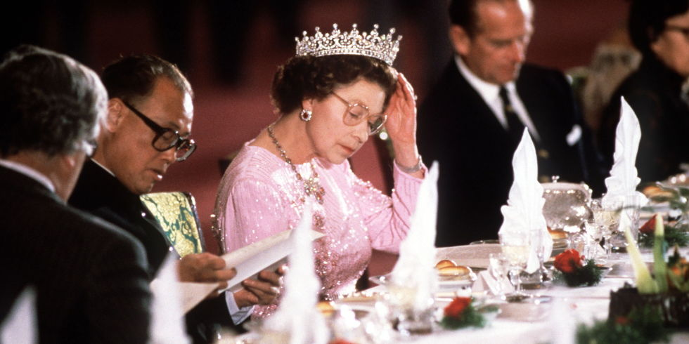 Rainha Isabel II banquete