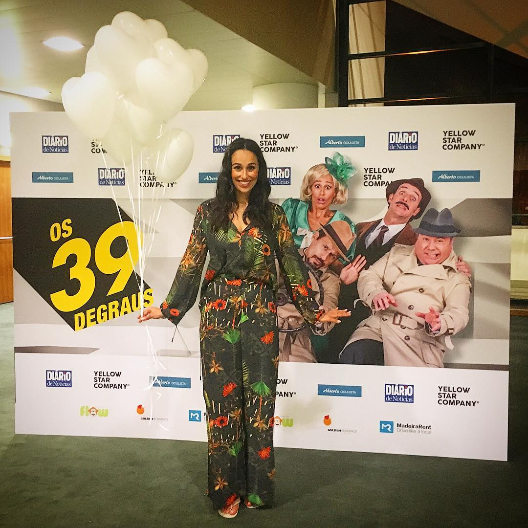 Rita Pereira peça de teatro Os 39 degraus
