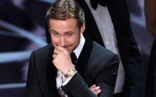 Ryan Gosling riso Óscares 2017